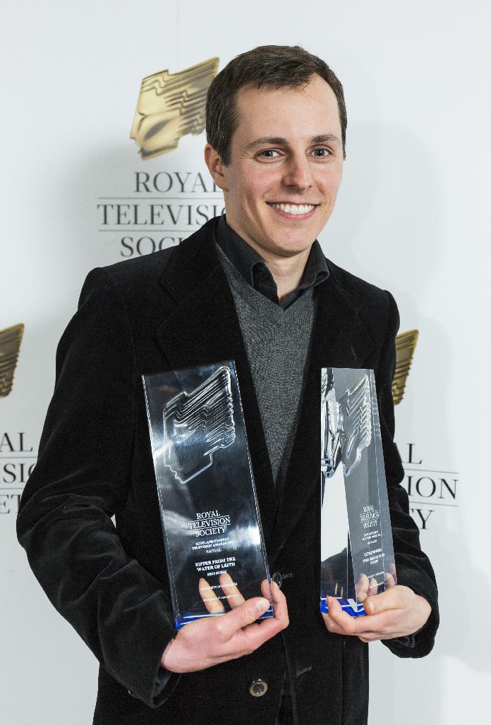 Krzysztof Kubik nagalii rozdania nagród Royal Television Society 27 styczeń 2016